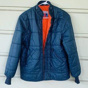 Vintage 70s Sears Put.On Shop Puffer Flight Jacket